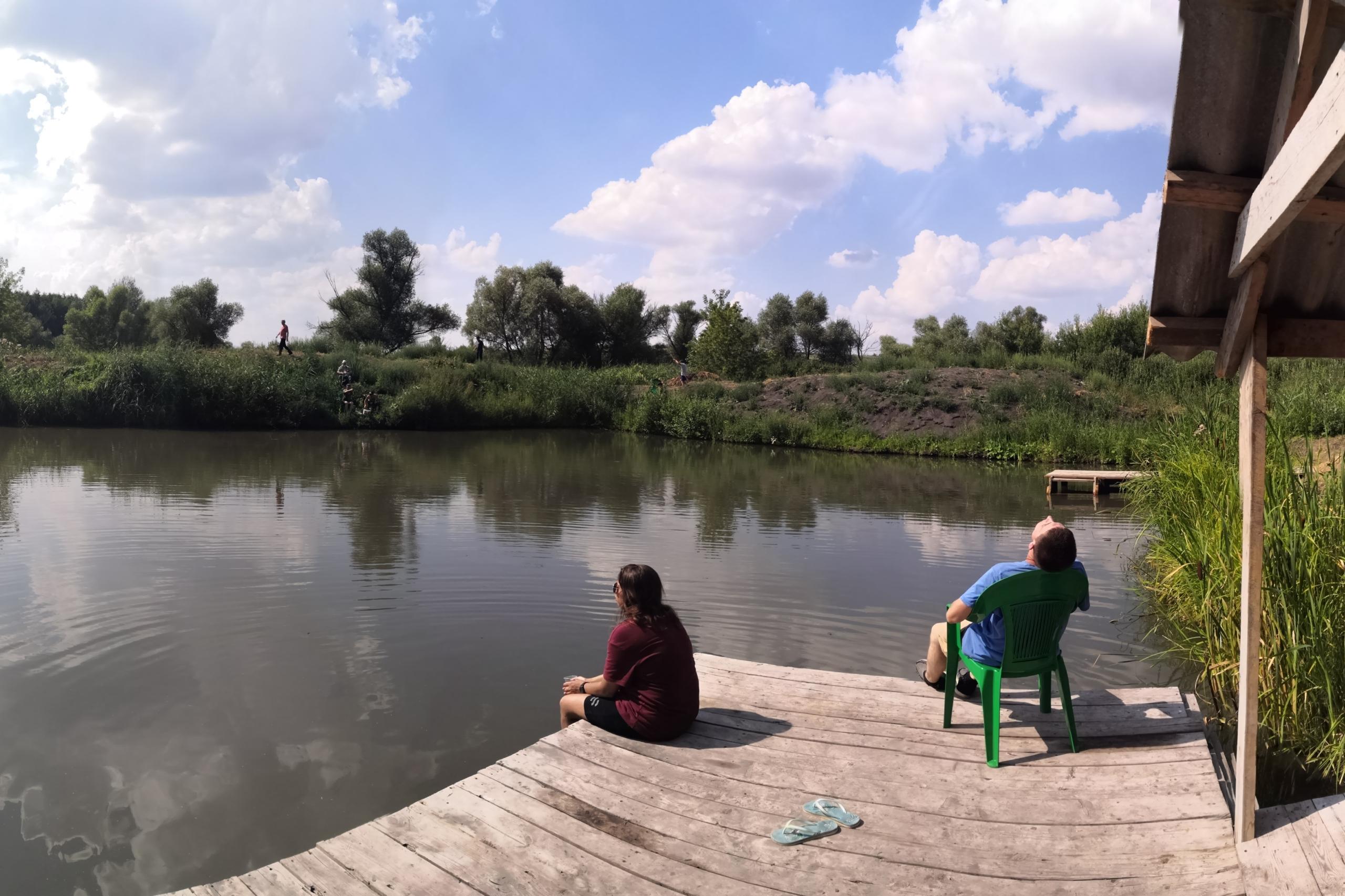Лето, рыбалка, купание, тренинг